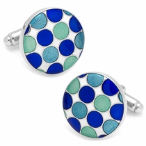 Blue Polka Dot Cufflinks