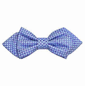 Blue Silk Bow Tie by Paul Malone Red Line