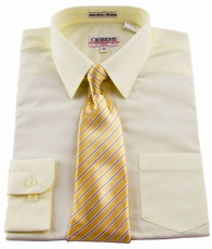 Boys Shirt and Tie Combination . Ivory (BST113)