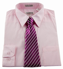 Boys shirt and tie combination hot pink bst105 for Pink shirt tie combo
