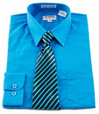 Boys Shirt and Tie Combination . Turquoise (BST102)