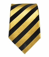 Boys Silk Tie by Paul Malone . Gold and Black