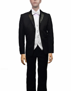 Boys Tuxedo and Vest Set Combination, White