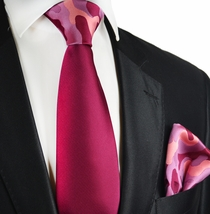 Boysenberry Contrast Knot Tie Set by Paul Malone