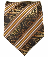 Brown and Gold Men's Tie