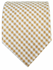 Brown Gingham Cotton Tie by Paul Malone Red Line