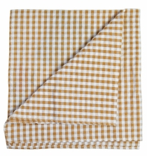 Brown Gingham Pocket Square by Paul Malone Red Line