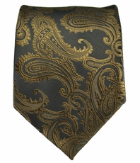 Brown Paisley Men's Tie