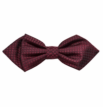 Burgundy Checked Silk Bow Tie by Paul Malone Red Line