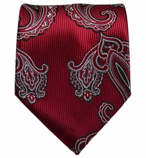 Burgundy Paisley Men's Tie