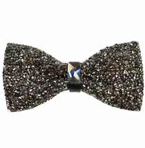 Charcoal Crystal Bow Tie