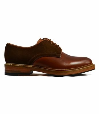 Cognac Men's Leather Shoes by Paul Malone