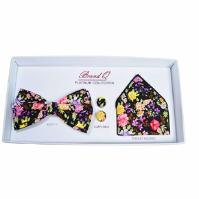 Colorful Floral Bow Tie Gift Box