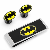 DC Comics Batman Logo Cufflinks and Money Clip Gift Set