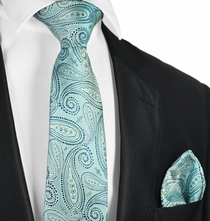 Deep Sea Blue Tie and Pocket Square Set