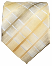 Double Cream and Tan Men's Necktie