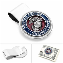Enamel Marine Corp Money Clip