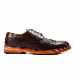 Exciting Full Brogue Oxfords in Burgundy by Paul Malone