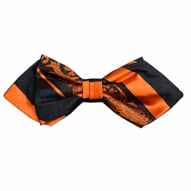 Fiery Orange Silk Bow Tie by Paul Malone Red Line