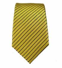 Gold a. Brown Silk Slim Tie by Paul Malone