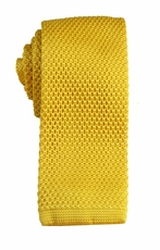 Gold Knit Tie by Paul Malone