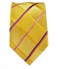 Gold Paul Malone Slim Silk Necktie