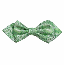 Green Paisley Silk Bow Tie by Paul Malone Red Line