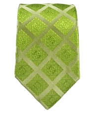 Green Paul Malone Slim Tie . 100% Silk (Slim729)