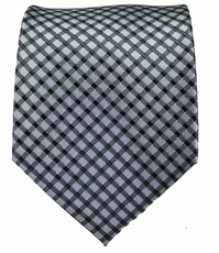Grey and Black Mens Tie