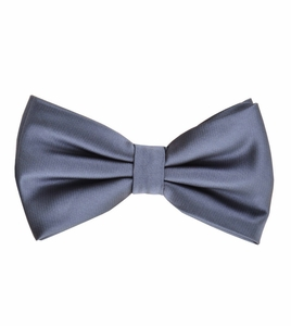 Grey Bow Tie and Pocket Square Set (BT100-L)