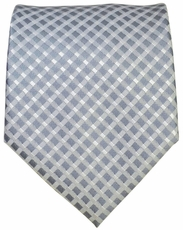 Grey Checkered Men's Tie