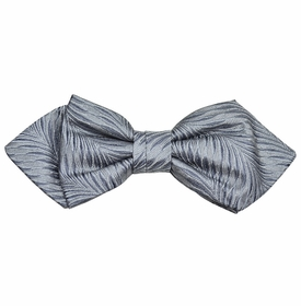 Grey Silk Bow Tie by Paul Malone Red Line