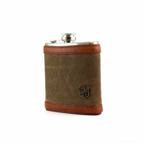 Hip Flask by British Belt Company . Olive