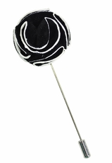 Lapel Rose . Black and White