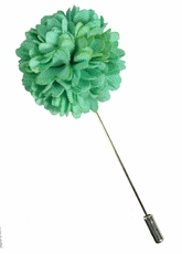 Lapel Flower . Solid Aqua Green