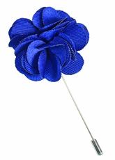 Lapel Flower . Solid Blue