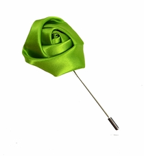 Lapel Flower, Solid Green