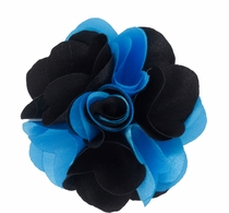 Lapel Flower . Turquoise and Black