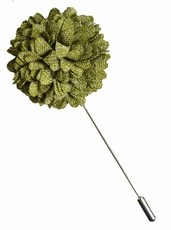 Lapel Flower . Vineyard Green