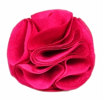 Lapel Rose . Solid Hot Pink