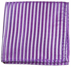 Lavender Silk Pocket Square by Paul Malone