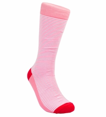 Light Red Striped Cotton Socks by Paul Malone