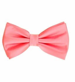 Lite Pink Bow Tie and Pocket Square Set (BT100-X)