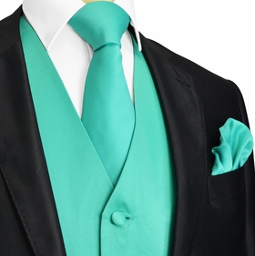 Marine Green Tuxedo Vest and Accessories (Q10-OO)