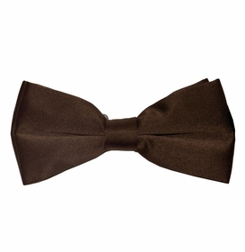 Men's Bow Tie . Pretied . Solid Brown (BT10-O)