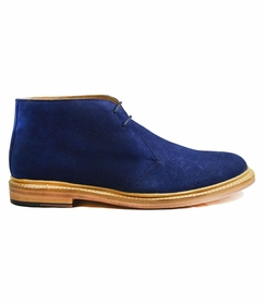 Navy Blue Suede Boots by Paul Malone