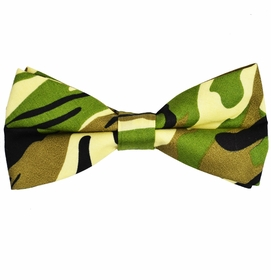 Olive Camouflage Cotton Bow Tie by Paul Malone Red Line