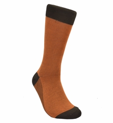 Orange and Black Cotton Socks by Paul Malone
