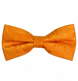 Orange Paisley Bow Tie (BT20-EE)