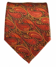 Orange Paisley Men's Tie